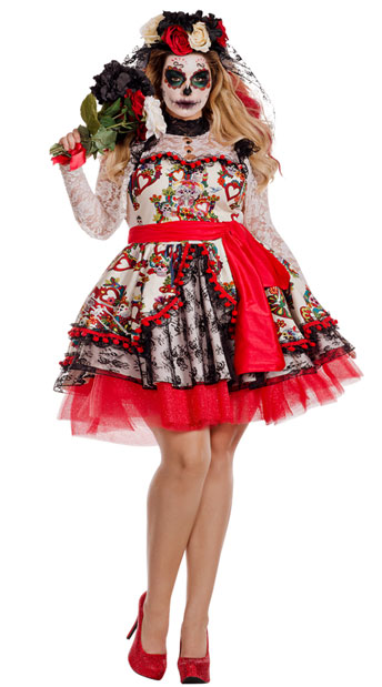Plus Size La Novia Bride Costume, plus size Day of the Dead Costume - Yandy.com