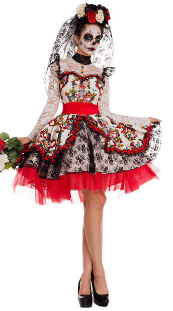 La Novia Bride Costume, Day of the Dead Costume - Yandy.com