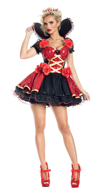 Women's Heart Throb Red Queen Roses Costume - DeluxeAdultCostumes.com