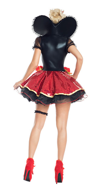 Plus Size Heartthrob Queen Costume - As Shown