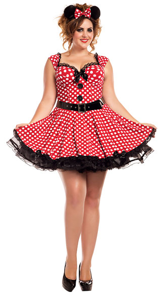 Plus Size Missy Mouse Costume, plus size sexy missy mouse costume, plus size minnie costume, plus size sexy minnie costume, plus size mouse costume, plus size sexy mouse costume