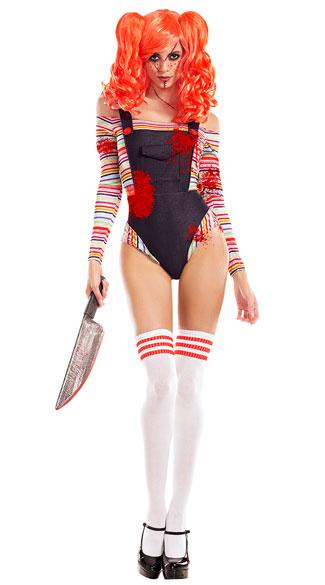 Killer Doll Costume, Sexy Killer Doll Costume, Chucky -7310