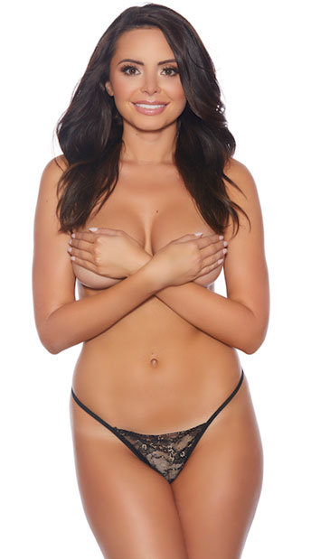 Plus Size Your Turn Crotchless G-String - Black