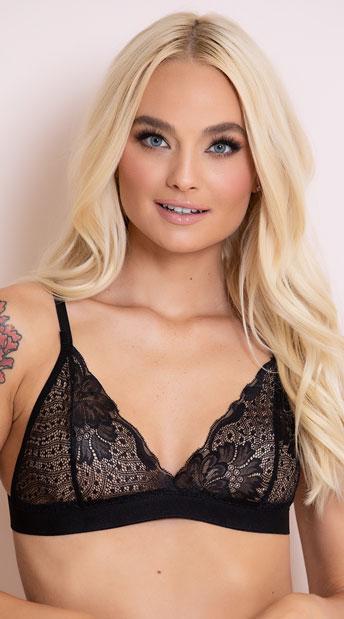 2762bd6840 Romantic Lace Bralette - Black ...