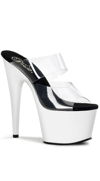 "7 Inch Stiletto Heel Neon Bottom Platform Slide, 7"" Stiletto Heel Neon Bottom Platform Slide - Yandy.com"