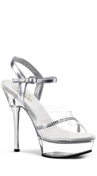 5 1/2 Inch Stiletto Heel P/f Sandal - as shown