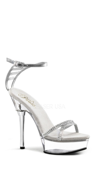 "5 1/2"" Stiletto Heel Ankle Strap Pf Sandal W/rs"