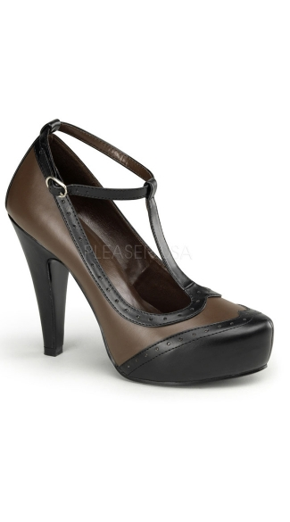Gangster Mary Janes - Black-brn Pu