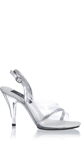 "4"" Stiletto Heel Sling Back Sandal W/rs"