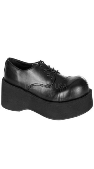 "3 1/4"" Platform Black Rockabilly Punk Shoe, Small Platform Rockabilly Shoes"