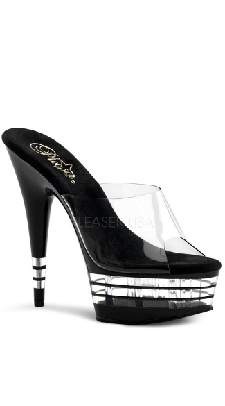"6 Inch Stiletto Heel Lined Platform Slide, 6"" Stiletto Heel Lined Platform Slide - Yandy.com"