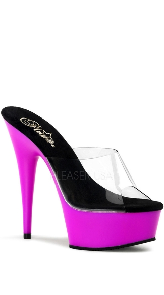 6 Inch Stiletto Heel UV Platform Slide