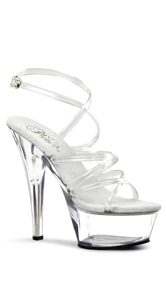 6 Inch Spike Heel Platform Sandal - as shown