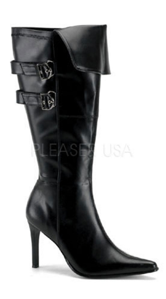 "Wide Pirate Boot with 3 3/4 Inch Heel, Plus Size Pirate Boot with 3 3/4"" Heel - Yandy.com"