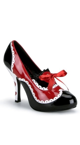 "4"" Heel, Alice In Wonderland Queen Of Hearts Platform"