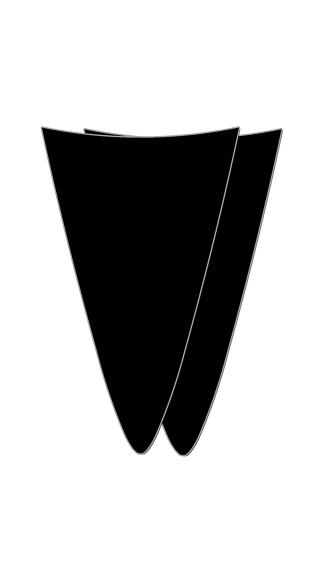 Black Strapless Bikini Merkin - Multi-Color