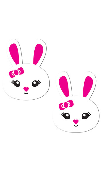 White and Pink Bunny Pasties, bunny pasties - Yandy.com