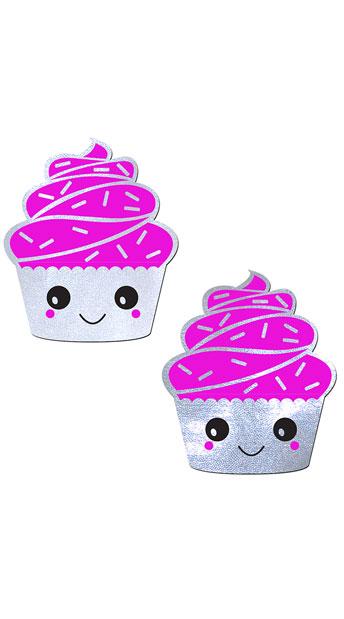 Sugary Cupcake Pasties - Pink