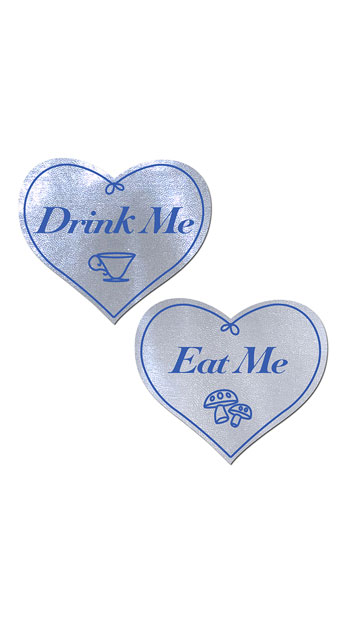 Eat Me and Drink Me White Heart Pasties - White