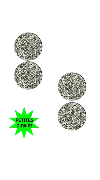 Small Silver Glitter Circle Pasties, Silver Circle Pasties, Mini Silver Pasties