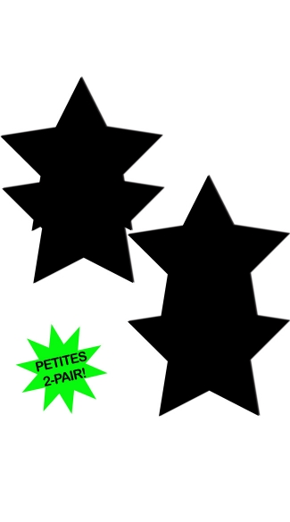 Small Black Star Pasties, Mini Black Pasties, Black Small Pasties