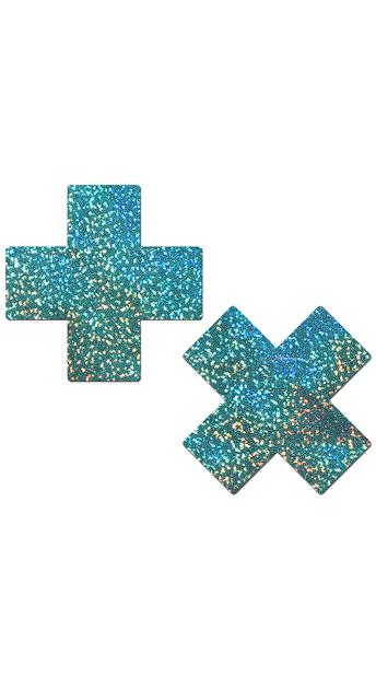 Seafoam Green Cross Pasties - Seafoam Green