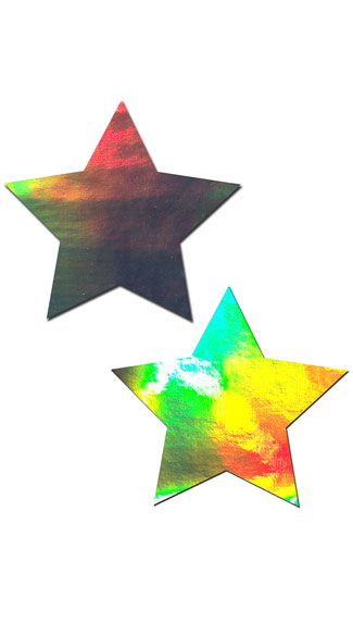 Holographic Star Pasties - Silver