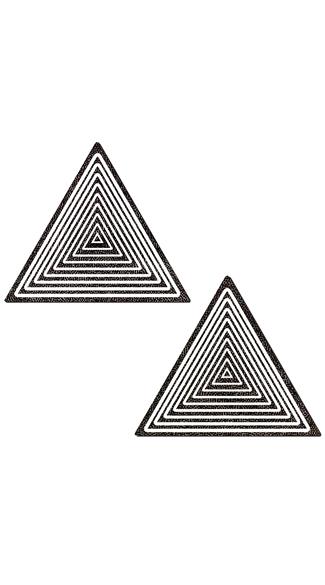 Trippy Black Triangle Pasties - Black