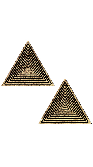Trippy Gold Triangle Pasties - Gold