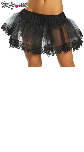 Fancy Trip Petticoat - Black