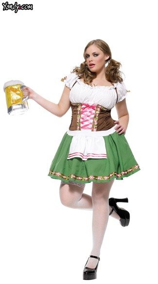 Plus Size Gretchen the Beergirl Costume. Sexy halloween costume. Sexy plus size costume. Plus size sexy halloween costume.