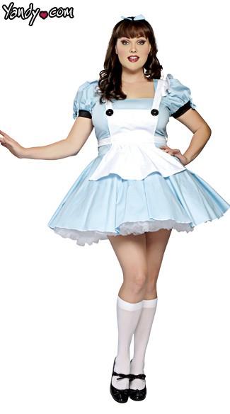 Plus Size Miss Alice Costume - Light Blue/White