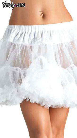 Plus Size Petticoat - White