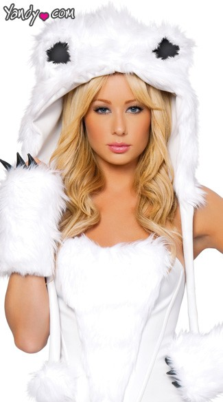 Polar Bear Hood, Adult Polar Bear Costume, Sexy Polar Bear Costume, Polar Bear Halloween Costume