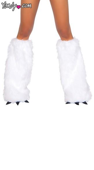 Yandy Sexy White Leg Warmers - White