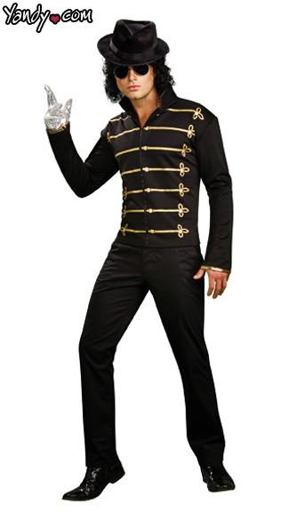Michael Jackson Military Jacket - Black/Gold
