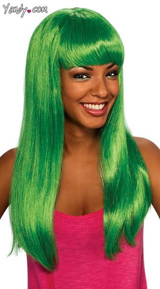 Aqua Doll Costume Wig - Green