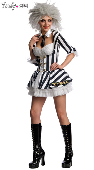 Sexy Beetlejuice Costume  sc 1 st  Yandy & Sexy Beetlejuice Costume Female Beetlejuice Costume Adult ...