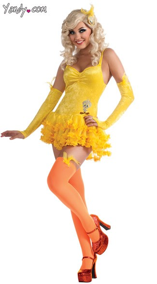 Sexy Tweety Costume, Adult Tweety Bird Costume, Tweety Bird Halloween Costume
