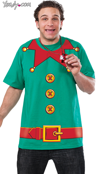 Men\'s Elf Shirt, Elf Costume Shirt, Christmas Shirt