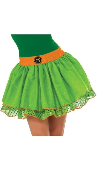 Teenage Mutant Ninja Turtles Michelangelo Skirt Costume - As Shown