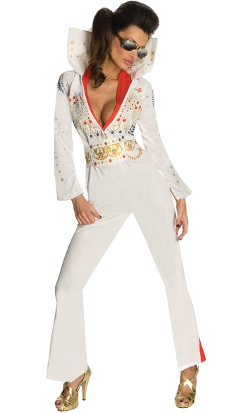 Sexy Secret Wishes Elvis Costume, Sexy Elvis Presley Costume, King Of Rock And Roll Costume