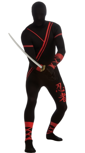 Men's Ninja Morphsuit Costume - Black
