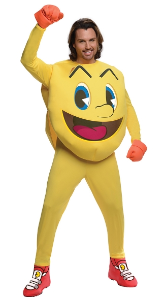 Mens Pacman Costume, Mens Video Game Costume, Big Pac Man Costume, Arcade Game Costume