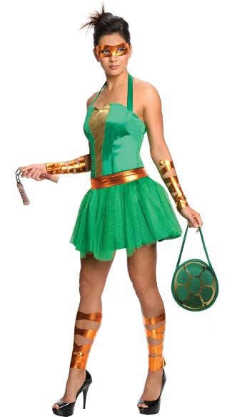 TMNT Female Michelangelo Costume - Green