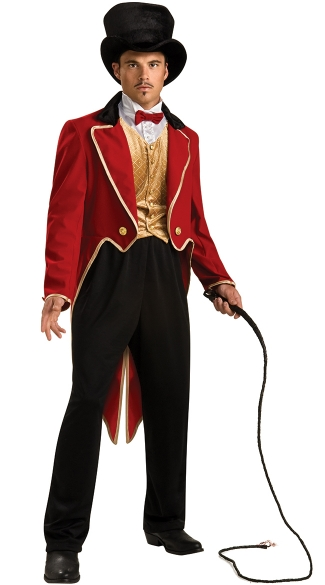 Men's Lion Tamer Costume - As Shown
