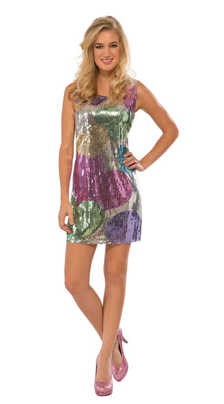 Sequin Candy Hearts Costume, Sequin Dress Costume, Candy Hearts Costume