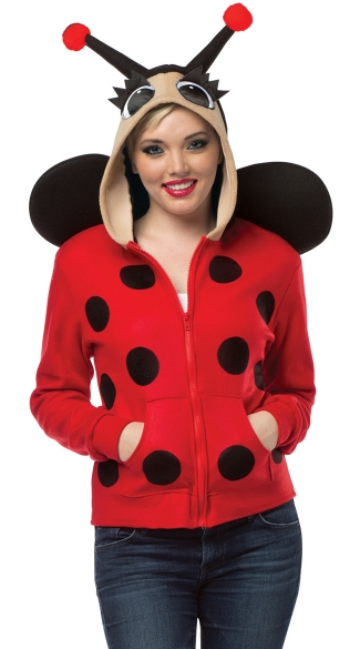 Lady Bug Hoodie Costume Adult Lady Bug Costume Lady Bug Adult Halloween Costume  sc 1 st  Yandy & Lady Bug Hoodie Costume Adult Lady Bug Costume Lady Bug Adult ...