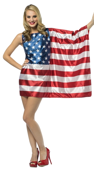 USA Flag Dress Costume, American Flag Costume, American Flag Dress Costume