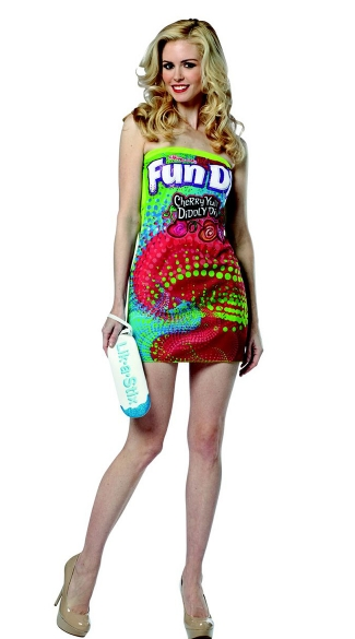 Fun Dip Tube Dress Costume, Sexy Fun Dip Costume, Adult Fun Dip Costume